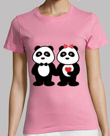 panda couple in love
