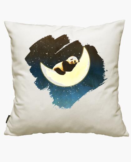 Housse de coussin panda dormir sur la lune
