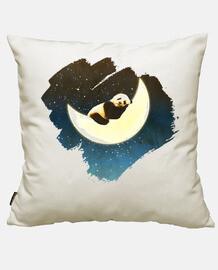 panda dormir sur la lune