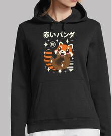 panda kawaii rosso