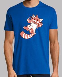 panda roja linda camisa para hombre