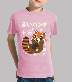 panda rojo kawaii