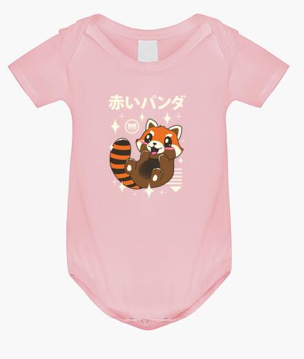 Ropa infantil panda rojo kawaii