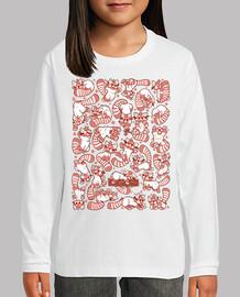 panda rojo niños camisa de propagación