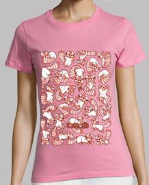 panda rojo spreadshirt mujer