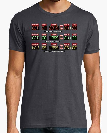 Tee-shirt Panneau de Configuration DeLorean (Retour Vers le Futur)