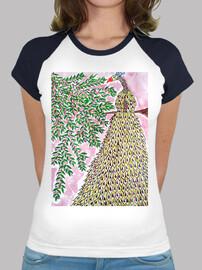 Paon Fantasy, T-shirt Femme bi-colore