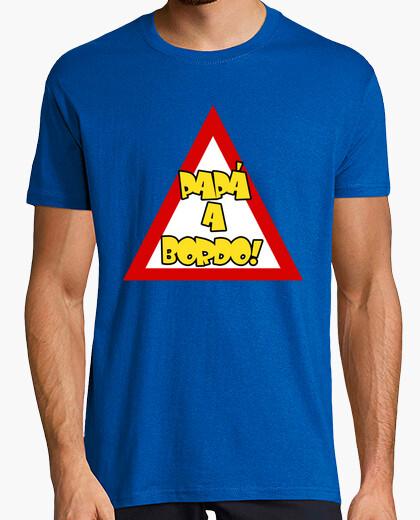 T-shirt papà a bordo blu roly