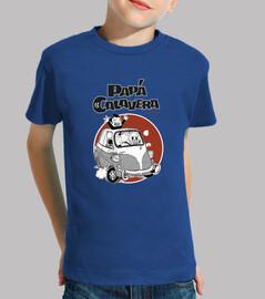 Papa Calavera Camiseta Niño, manga corta, Azul, calidad extra