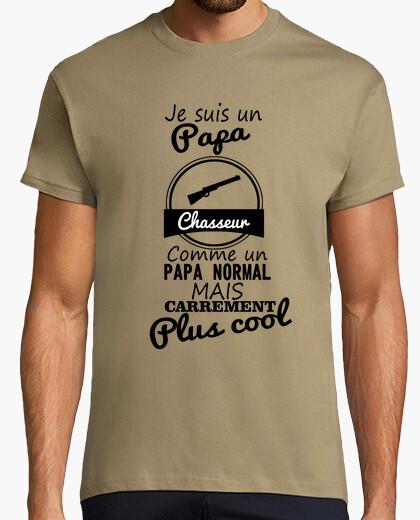 Tee-shirt Papa chasseur plus cool