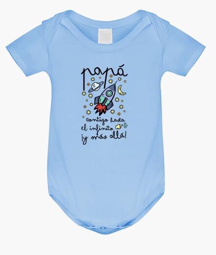 Abbigliamento bambino Papà con voi per l'infinito e di pi