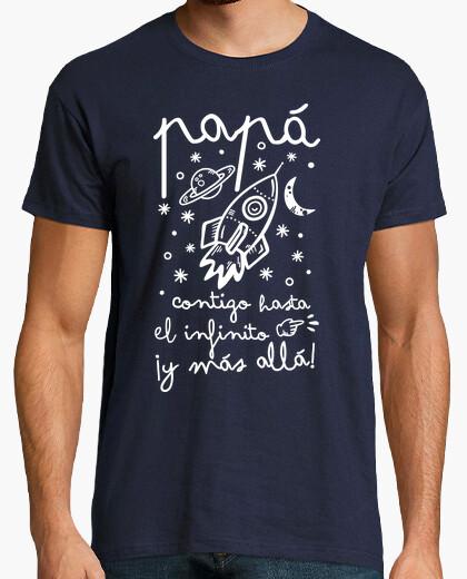 T-shirt papà con voi verso l'infinito e più lì!