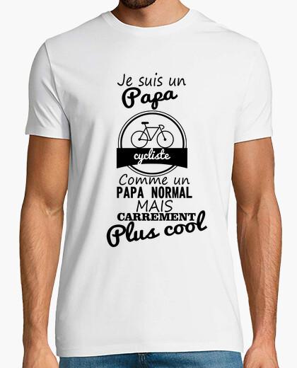 Tee-shirt Papa cycliste plus cool