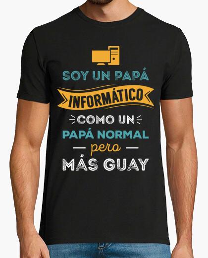 T-shirt papà del computer