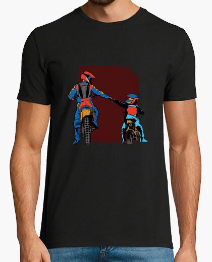T-shirt papà e figlio moto cross