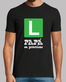 Papá en pácticas (letras blancas)