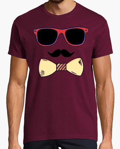 Tee-shirt papa hipster - homme, manche courte, bordeaux, qualité extra