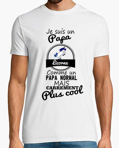 Tee-shirt Papa licorne plus cool