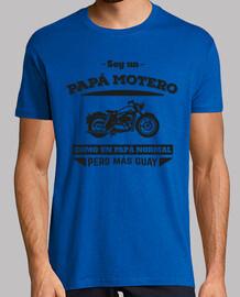 papà motociclista, come un papà normale, ma più cool (sfondo chiaro)