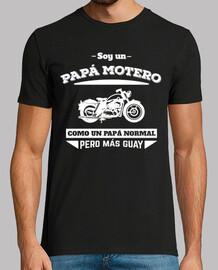 papà motociclista, come un papà normale, ma più cool (sfondo scuro)