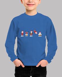 PAPA NOEL Camiseta manga larga Navidad niño y niña