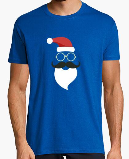 Camiseta Papa Noel Santa Claus Hipster Bigote