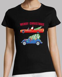 Papa Noel y Rudolph merry christmas