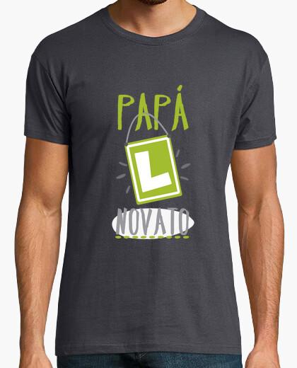 Camiseta Papá novato,Hombre, manga corta, gris ratón, calidad extra