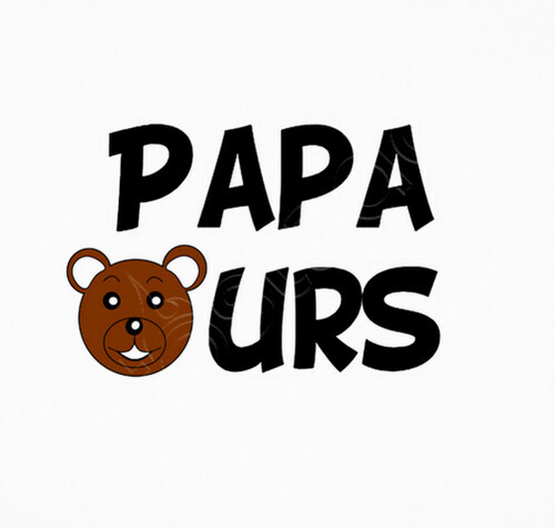 tee shirt papa ours 813463. Black Bedroom Furniture Sets. Home Design Ideas