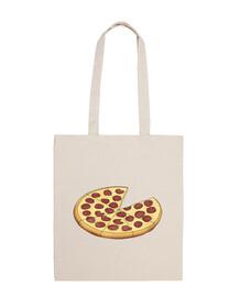 papà pizza - borsa in tela cotone 100%