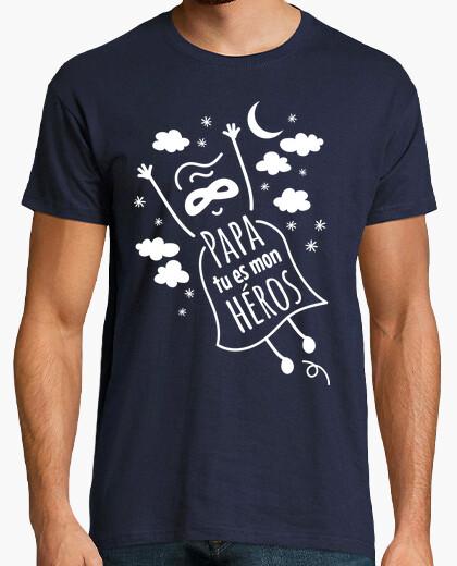 T-shirt papà sei mon héros