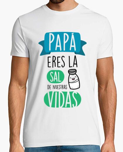 Tee-shirt papa, vous êtes le sel de notre vie (fond clair)