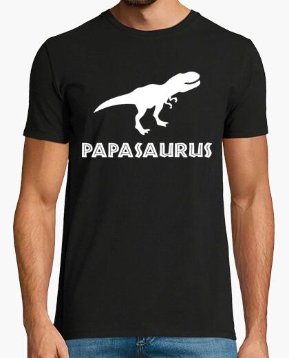 T-shirt papasaurus (sfondo scuro)