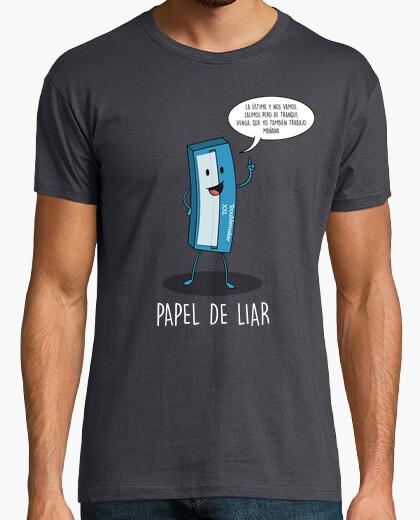 Camiseta Papel de liar Black