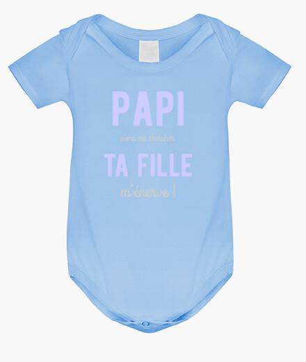 Vêtements enfant Papi ta fille m'énerve cadeau