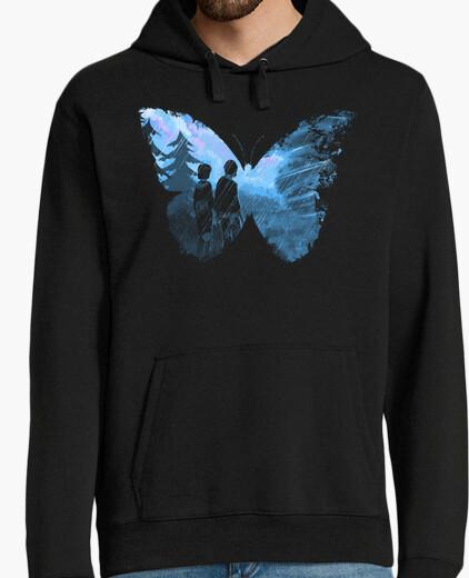 Sweat papillon bleu