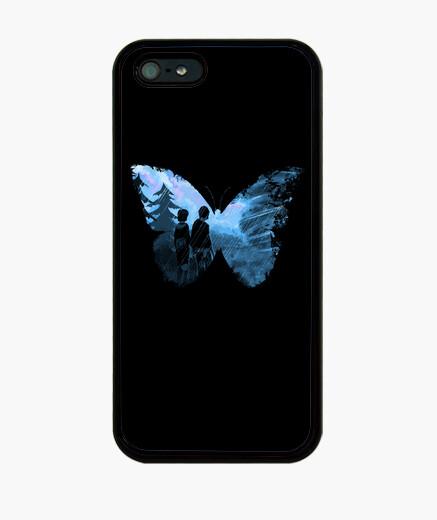 Coque iPhone papillon bleu
