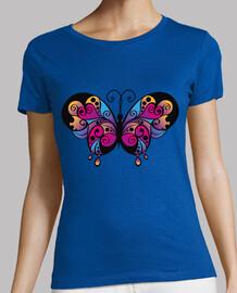 papillon coloré / papillons noirs
