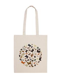 papillons cercle. 100 coton sac à bandoulière