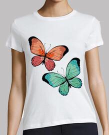 papillons ours orange et bleu vert