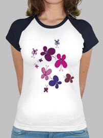 papillons t-shirt femme