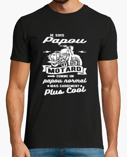 Tee-shirt papou et motard humour