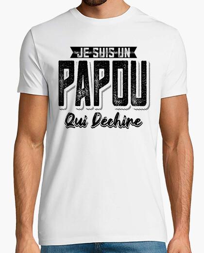 Camiseta papou qui déchire cadeau humor