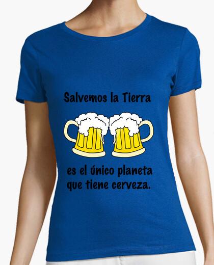 Camiseta para cerveceras (letras negras)