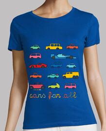 para todos los coches   camiseta sin mangas mujer