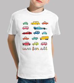 para todos los coches | niños de manga corta