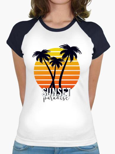 Tee-shirt paradis du coucher du soleil