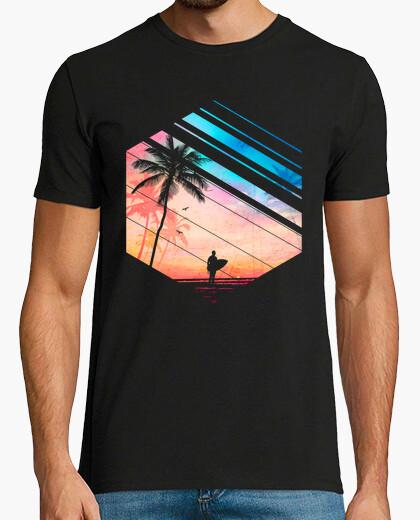 Camiseta paraíso para los surfistas