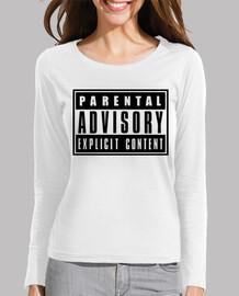 Parental advisory: explicit content, chica, chicas