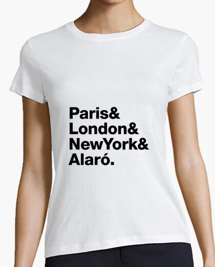 T-shirt parigi, londra, ny, alaro - mallorca
